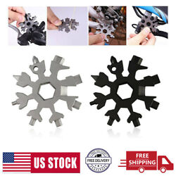20-in-1 Snowflake Tool Portable Multi-tool Combination Compact Portable Keychain