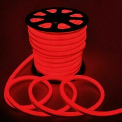 100' 110V LED Neon Rope Light Christmas Commercial Sign Decor In Outdoor Red