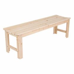 Shine Company 5ft Backless Cedar Bench for Garden and Patio Natural (Open Box)