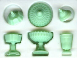 Dollhouse Miniature Green Candy Dish Set 1:12 Scale Minis for Doll House