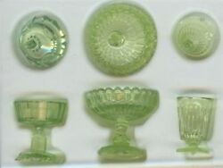 Dollhouse Miniature Clear Green Candy Dish Set DOLL HOUSE Miniatures 112 Scale
