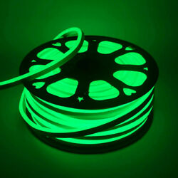 Green 100#x27; LED Flex Neon Rope Light Xmas Party Wedding Commercial Sign Decor USA