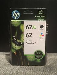 GENUINE HP 62XL BLACK & HP 62 TRICOLOR COMBO PACK EXP: 102020 or later