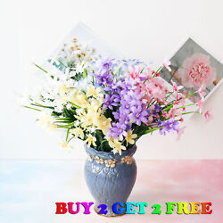 28 Head Artificial Lily Bouquet Silk Fake Flowers Wedding Party Home Decoration $5.99