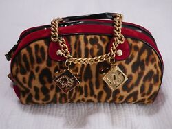Gorgeous Limited Authentic Dior Runway Leopard Print Gambler Handbag