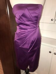 KAREN MILLEN PURPLE PARTY Holiday DRESS US 4 6 UK 10 EUC $49.99
