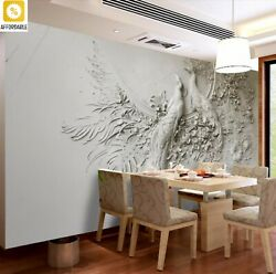 Peacock 3D Wallpaper Embossed TV Couch Background Mural Wall Living Room Bedroom $19.98