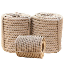 Twisted Manila 3 Strand Natural Fiber Cord Ropes Landscape Fitness Dock Decor $37.99