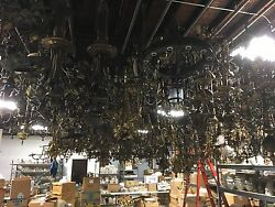 Lifetime 30 Year Collection of Antique Lighting Lamps Light Fixtures Shades Part $499999.99