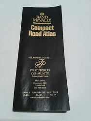 Used Rand McNally Compact Road Atlas All Roads lead to ? 224 Pages Black Cover $9.00