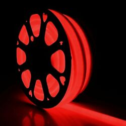 50#x27; 330#x27; Red LED Flex Neon Rope Light Commercial Sign Home Store Decor 110V USA