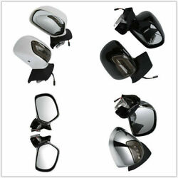 Motorcycle Rearview Mirrors W LED Turn Signals Smoke Lens For Honda Goldwing