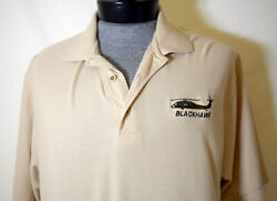Blackhawk Helicopter Large Polo Shirt L Golf Tan Embroidered $17.55