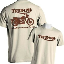 Motorcycle T Shirt Vintage Triumph Classic British Mens Small to 6x and Tall $13.25