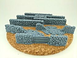 28mm scale stone wall set bulk 8 walls included wargaming scatter terrain $13.20