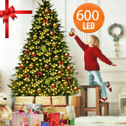 567ft Christmas Tree Artificial Deluxe 600 LED Warm White Light Decor WStand