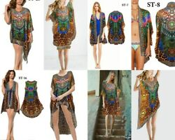 CHRISTMAS GIFT DIGITAL PRINT WHOLESALE LOT 50 ASSORTEd KAFTAN SHORT WOMEN BEACH