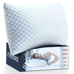 Memory Foam Cooling Pillow Heat and Moisture Reducing Ice Silk and Gel Infused $28.99
