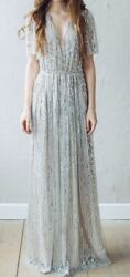 New Years Eve sequin wedding prom cocktail elegant formal dress gown $380.00