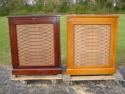 Pair of 1940's Altec 605A Cabinets with 604 Coaxials and N-2000-B Crossovers