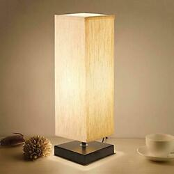 Bedside Table Lamp Minimalist Solid Wood Table Lamp Bedside Desk Lamp for Room