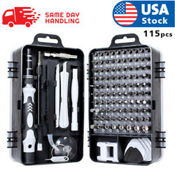 usa magnetic screwdriver bit set for iphone macbook tool kit set 117pcs $17.98