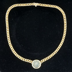 Genuine Bulgari Ancient Coin 18 Kt Yellow Gold Necklace Very Good Condition!