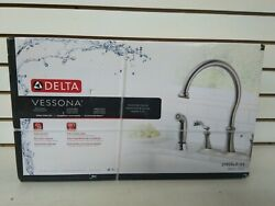 Delta 21925LF-SS Vessona Two Handle Kitchen Faucet with spray (Shelf 1c)(J)