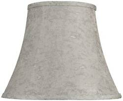 Taupe with Silver Weave Specks Bell Shade 8x14x11 (Spider)