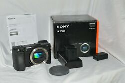 Sony A6500 4k 24.2 MP Camera- Open Box Used lightly 3 batteries Strap