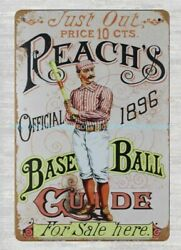 cheap metal art Reach& Official 1896 Best Ball Guide metal tin sign $15.89