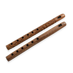 Beautiful Traditonal Musical Instrument Set of 2 Handcrafted Wooden Flutes $15.99