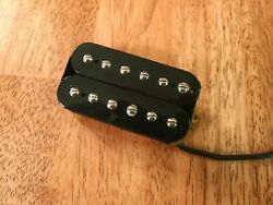 NECK HUMBUCKER BLACK 12 ADJUSTABLE POLES FOUR CONDUCTOR WIRES $21.99