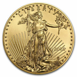 2020 1 oz Gold American Eagle $50 US Mint Coin BU $1,927.80