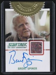 Star Trek TNG: Heroes & Villains Brent Spiner Auto Autograph Costume Card 91275