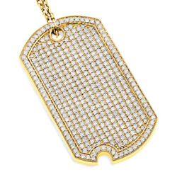 5.35CTW NATURAL DIAMOND 10K SOLID YELLOW GOLD HIP HOP PENDANT FOR MAN
