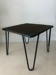 mid century vintage mod hairpin patio garden table wrought iron