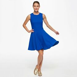 NWT ELIZA J $198 6 Electric Blue Sleeveless Flare Dress Cob Nordstrom Cocktail $32.21