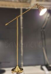 """IKEA BAROMETER Floor reading lamp brass color 57"""" Pedal Push Switch BRAND NEW $128.99"""