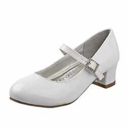 JOSMO GIRLS WHITE DRESS SHOES FIRST COMMUNION PARTY SIZES 11 TODDLER 7 YOUTH $14.99