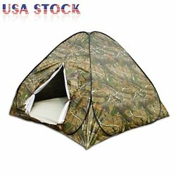 Portable Camouflage Pop Up Camping Hiking Automatic Instant Tent 3 4 Person Camo $27.88