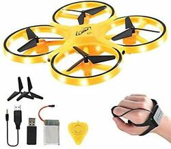Mini Drone Quad Induction Levitation Hand Operated Helicopter For Kids yellow $34.95