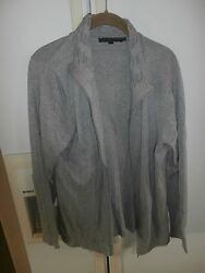 euc robert kitchen canada modern gray cardigan xl 100% cotton $10.99