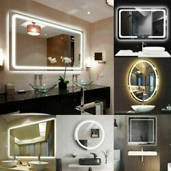 XX Large LED Illuminated Wall Bathroom Makeup Mirror Demister Vertical Magnifier $125.95