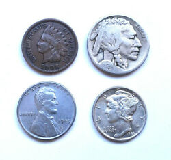 ✯ Mini Collection of Collectible US Coins ✯ Includes Silver Old US Coin Lot ✯ $7.95