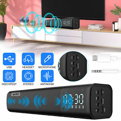 Bluetooth Sound Bar Speaker 3D Mic Stereo System TV Home Theater LG Samsung Sony $46.97