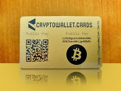 BITCOIN  BTC Cryptocurrency Storage Wallet Cards  Gift $4.99
