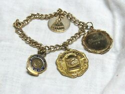 1960's Goodwill Gold Filled 4 Charms Bracelet Nice! $125.00