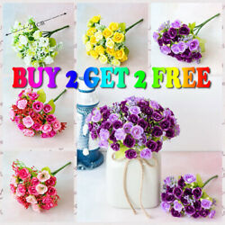 US 21 Head Artificial Flower Fake Rose Bouquet Wedding Party Home Decoration $5.69