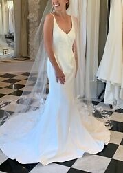 "***NEW***Robert Bullock ""Grace"" Gown Modern Wedding Dress"